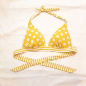 Victoria's Secret Yellow Liya Push Up Bikini Top